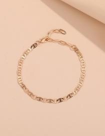 Fashion Gold Color 1 Alloy Thin Chain Hollow Geometric Bracelet