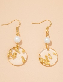 Fashion Pearl Ear Hook Perkin Acrylic Resin Pearl Geometric Earrings