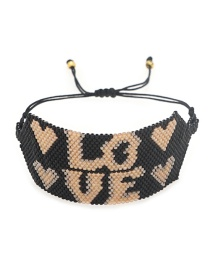 Fashion Letter Letter Rice Beads Hand-woven Bracelet