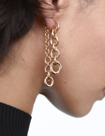 Fashion Golden Long Chain Alloy Earrings