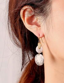 Fashion Golden Two-tone Round Earrings