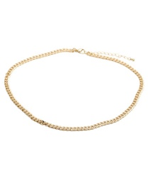 Fashion 50cm Long Necklace (type B) Gold-plated Copper Chain With Diamond Heart Necklace