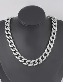 Collar De Cadena De Acrílico Grueso Con Diamantes Ccb Geométricos