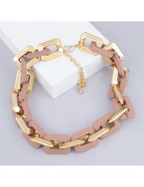 Collar De Cadena Gruesa De Resina Ccb Cuadrado
