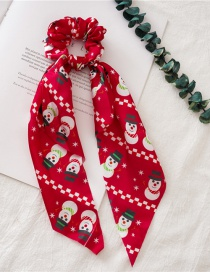 Fashion Red Snowman Streamer Christmas Bowel Ring With Streamers