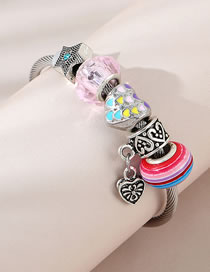 Fashion Color Mixing Painted Oil Love Starfish Alloy Bracelet