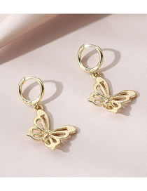 Fashion Gold Color Butterfly Alloy Hollow Earrings