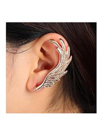 Fashion Gold Color Angel Wings Alloy Single Side Earrings