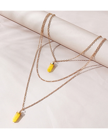 Fashion Golden Resin Geometric Alloy Multilayer Necklace
