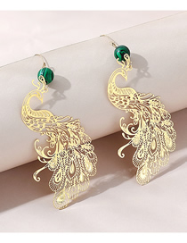 Fashion Gold Color Phoenix Alloy Hollow Earrings