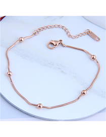 Fashion Rose Gold Ball Spring Chain Titanium Steel Bracelet