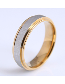 Fashion Gold Color Stainless Steel Simple Ring