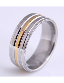 Fashion Silver Color Stainless Steel Ring