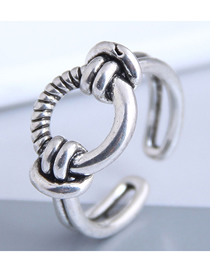 Fashion Silver Copper Knotted Open Ring
