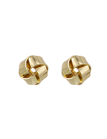 Fashion Section 2 Alloy Braided Round Hollow Earrings