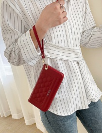 Fashion Red Lightweight Diamond Wallet In Hand