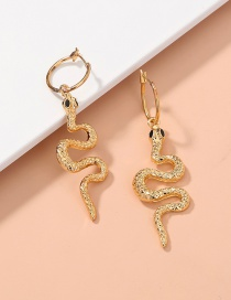 Fashion Gold Color Long Round Snake Animal Earrings