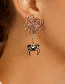Fashion Gold Color Alloy Diamond Spider Earrings