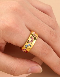 Fashion Gold Color Butterfly Ring With Diamonds And Gold Plated Copper