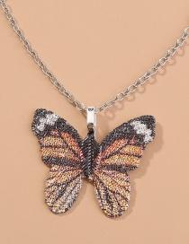 Collar De Aleación Colgante De Espécimen De Mariposa De Simulación