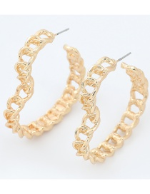 Fashion Gold Color Alloy Notch Love Hollow Earrings
