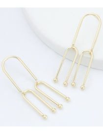Fashion Gold Color Alloy Multilayer Arch Earrings