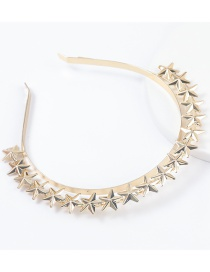 Fashion Gold Color Geometric Alloy Five-pointed Star Headband