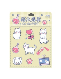 Fashion Cats Paw Mint Hand Account Stickers Children Mobile Phone Water Cup Pvc Waterproof Small Stickers