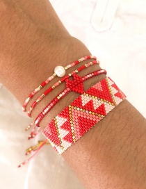 Fashion Color Mixing Rice Beads Handmade Geometric Beaded Bracelet