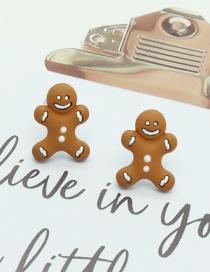 Fashion Biscuit Earrings Gingerbread Man Cookie Earrings