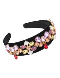 Fashion Champagne Fabric Alloy Diamond-studded Geometric Headband