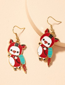Fashion Flying Pig Piglet Alloy Drip Earrings