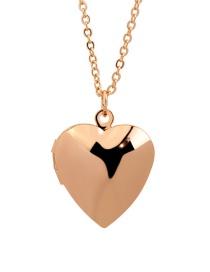 Collar Abatible Chapado En Oro De Cobre Brillante Love