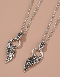 Fashion Silver Color Diamond Wing Geometric Alloy Multilayer Necklace
