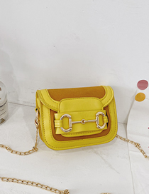 Fashion Yellow Childrens Crossbody Shoulder Bag With Chain Flap