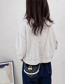 Fashion Black Chain Diamond Childrens One-shoulder Diagonal Bag