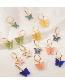 Fashion Color Mixing Butterfly Acrylic Alloy Earring Set