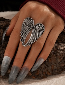 Fashion Black Single Wing Alloy Ring