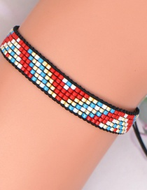 Fashion Color Mixing Rice Beads Hand-woven Geometric Beaded Bracelet