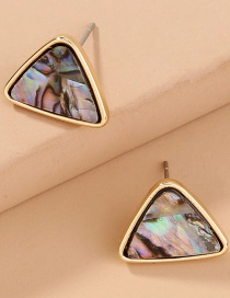 Fashion Gold Color Natural Abalone Shell Triangle Earrings