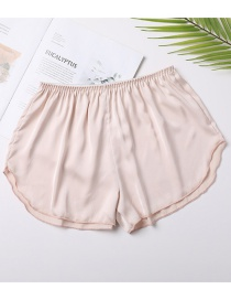 Fashion Apricot Anti-glare Loose Non-marking Non-curling Safety Pants