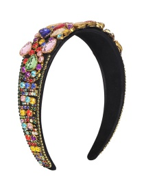 Fashion Color Fabric Alloy Diamond-studded Water Drop Headband