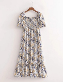 Fashion Printing Printed Long Dress With Elasticated Front Slit