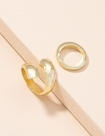 Fashion Golden Color Cross Opening Alloy Ring Set