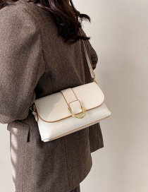 Fashion White Textured Crossbody One-shoulder Small Square Bag