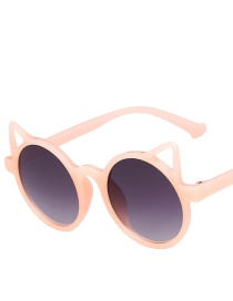 Fashion Jelly Powder Double Ash Cat Ears Childrens Uv Protection Sunglasses