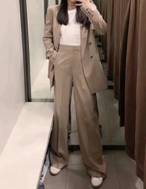 Fashion Khaki Khaki Suit Long