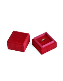 Fashion Claret Ring Box Right Angle Corduroy Jewelry Packaging Box