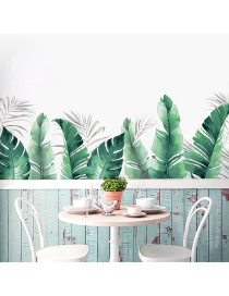 Fashion 43*60cm*2 Pieces In Bag Packaging Tropical Green Leaf Wall Sticker