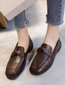 Fashion Brown Flat Low Heel Shoes